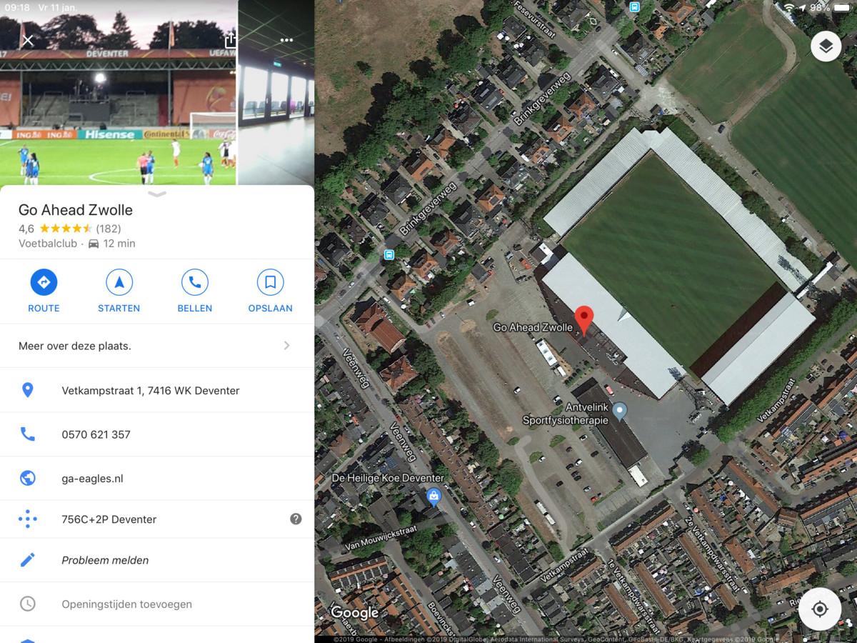 Go Ahead Zwolle op Google Maps.
