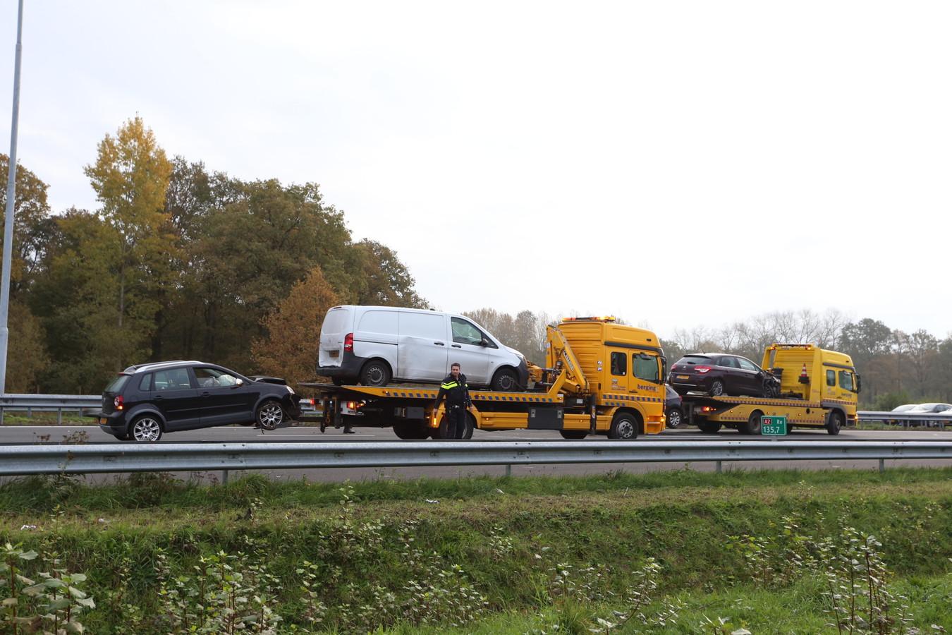 Ongeluk op de A2.