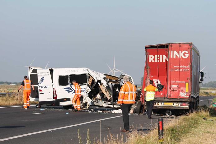 Op de A4 bij Woensdrecht viel eind juni een dode bij een ongeluk.