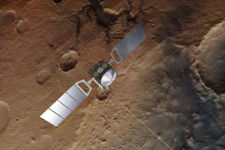 De onbemande ruimtemissie Mars Express van ESA.