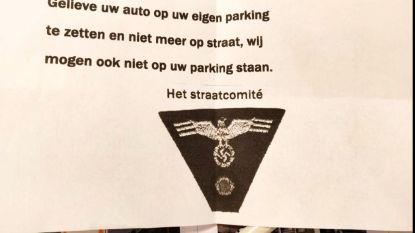 Politie start onderzoek nadat inwoner nazisymbolen gebruikt om parkeerprobleem aan te kaarten