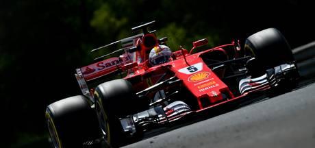 Derde vrije training: baanrecord Vettel, Ricciardo out