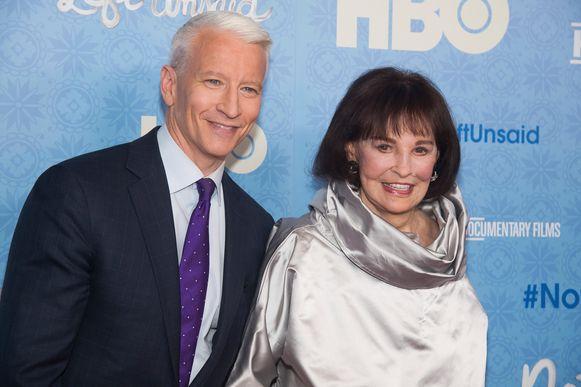 Anderson Cooper en zijn moeder, Gloria Vanderbilt.