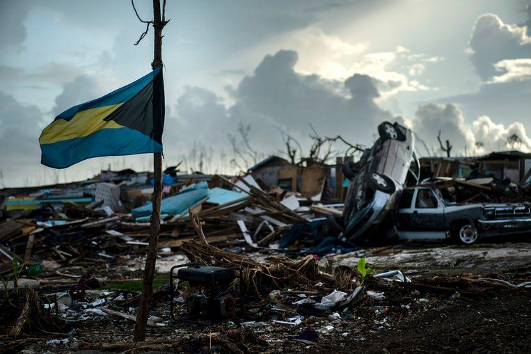 De orkaan raasde vooral over het noordelijke deel van de Bahama's.