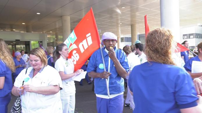 Actievoerders voor het Catharina Ziekenhuis in Eindhoven.