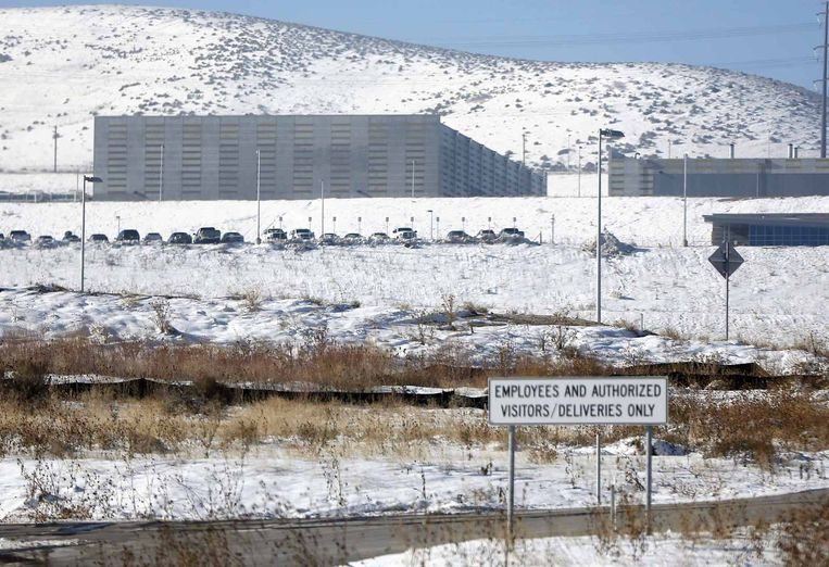 Een dataverzamelingscentrum van de NSA in Bluffdale, Utah. Beeld reuters