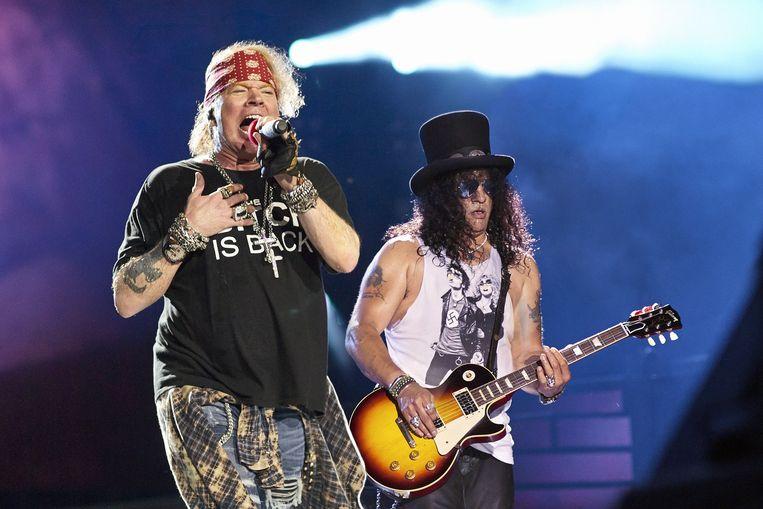 Axl Rose en gitarist Slash