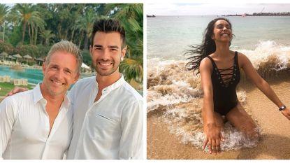 SHOWBITS. Christoff in een romantische bui en Nora Gharib heeft last van winderigheid op het strand