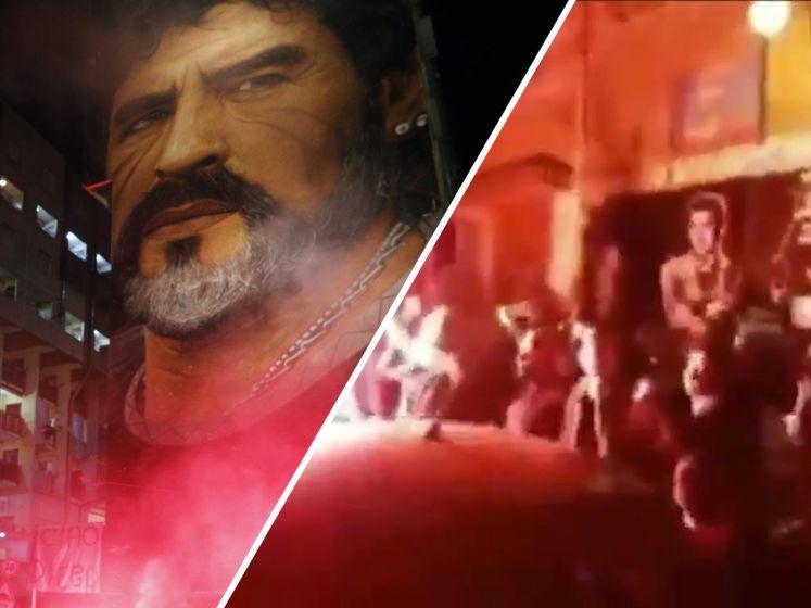 Napels huilt om dood Diego Maradona
