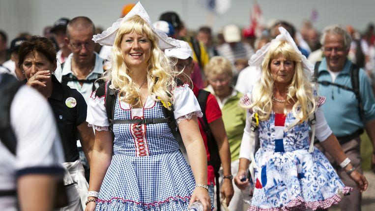 Tijdens de vierdaagse bruist het van het leven in Nijmegen. Beeld ANP