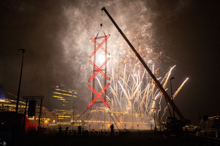 Vuurwerkshow op de Kop van Java, 2019. Beeld Hollandse Hoogte /  ANP