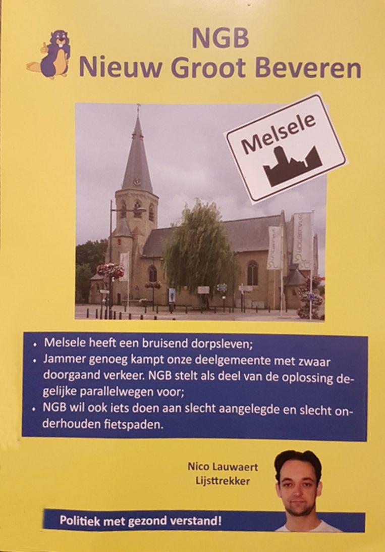 De kerk die gebruikt werd op de folder is niet die van Beveren-Waas, maar wel die van Beveren-Roeselare.