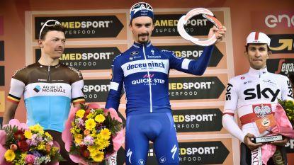 """VIDEO. Oliver Naesen beste Belg in Sanremo sinds Tom Boonen: """"Ik moet heel fier zijn op deze tweede plaats"""""""