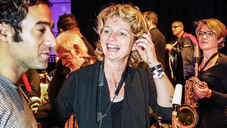 Op het Generation Discover Festival, afgelopen week op het Malieveld in Den Haag, trad Marjan van Loon op met het orkest Kunst van het Volk. Beeld Jiri Buller