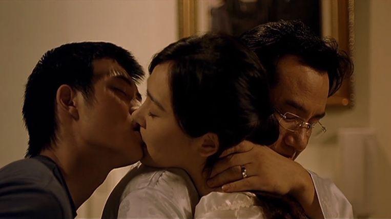Jae Hee, Lee Seung-Yun en Kwon Hyuk-ho in 'Bin-jip' van Kim Ki-duk Beeld