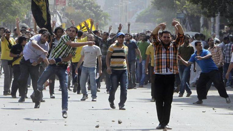 Supporters van Morsi in Caïro vandaag. Beeld reuters