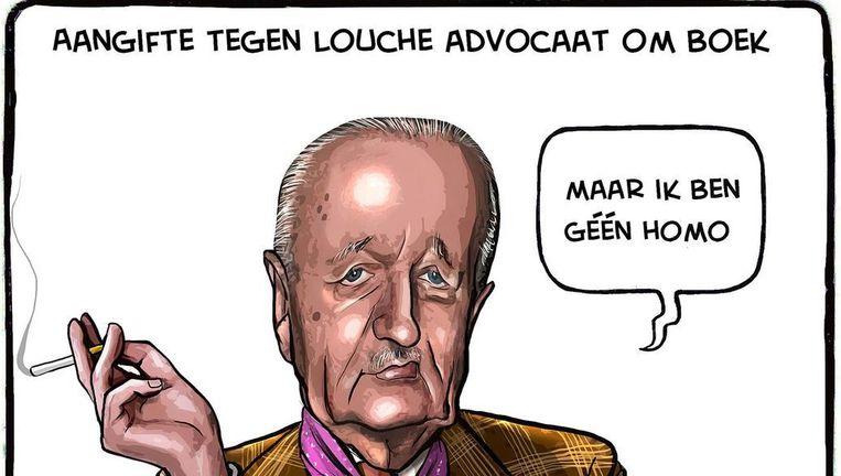 De cartoon waar de rechtszaak om draaide Beeld Ruben L. Oppenheimer