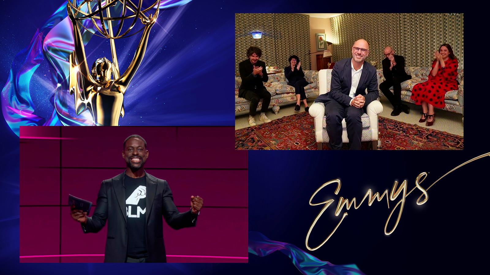 Sterling K. Brown geeft virtueel de Emmy voor Outstanding Drama Series aan Jesse Armstrong en het team van Succession