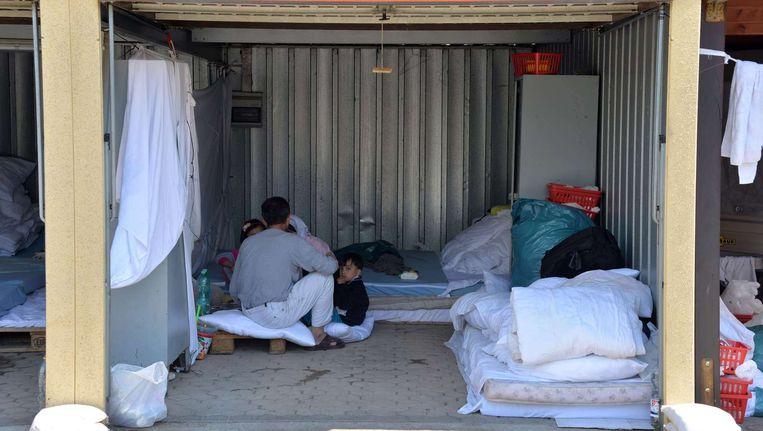De huisvesting van vluchtelingen in Duitsland is nu vaak beperkt. Beeld anp