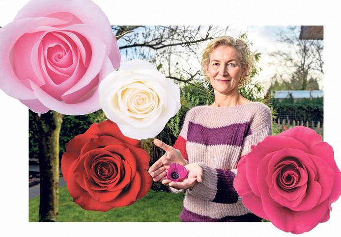 Liesbeth ving elk gesprek met de ouderen in één levensles en fotografeerde hun handen met een bloem erin.