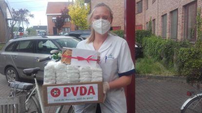 PVDA verzamelt beschermingsmateriaal voor WZC Sint-Joris