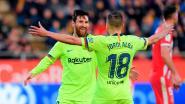 VIDEO. Messi loodst Barcelona met fraai stiftertje naar zege in Catalaanse derby, Vermaelen mag in slot opdraven