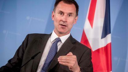 """Nieuwe Britse buitenlandminister Hunt: """"EU moet standpunt veranderen om breuk met Londen te vermijden"""""""