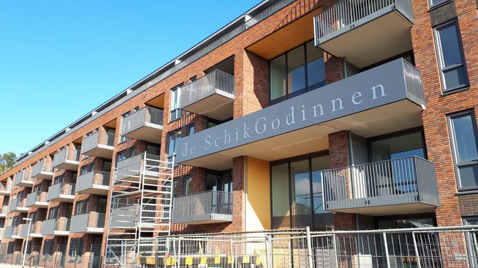 Het nieuwe appartementencomplex aan de Lage Bothofstraat.