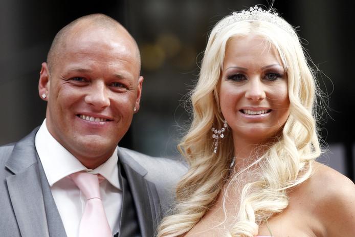 Barbie en Michael op hun huwelijksdag in 2012.