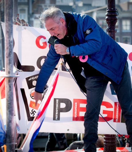 Voorman van Pegida moet boete van 750 euro voor demonstratie betalen