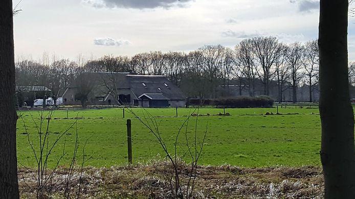 De boerderij in Voorst (Gelderland), waar Wilma Verver nu verblijft.