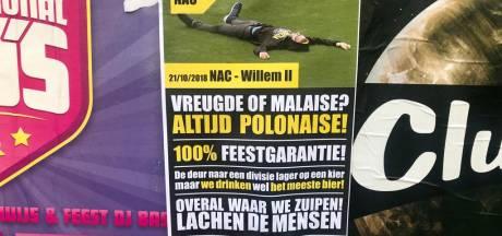 Supportersacties rondom derby begonnen: Willem II-fans lachen om 'carnavalsvereniging NAC'