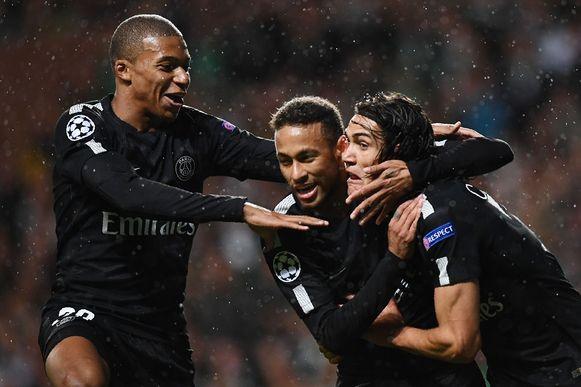 Mbappé, Neymar en Cavani.