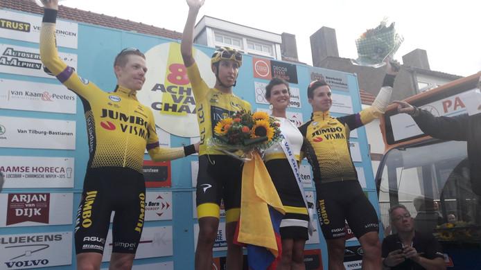 Bernal wint Acht van Chaam, Kruijswijk tweede.