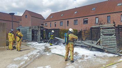 Tuinhuizen volledig uitgebrand in Sleidinge: rookpluim kilometers ver te zien