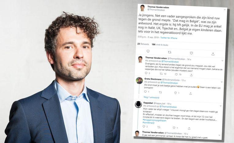 Thomas Vanderveken met zijn tweet.