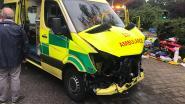 Ambulance crasht op auto tijdens interventie