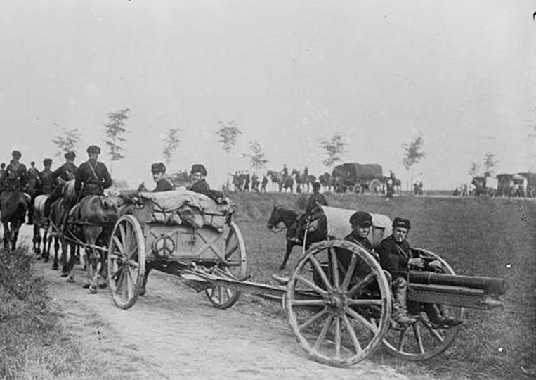 Een beeld van de 'terugtocht' van het Belgisch leger uit 1914.