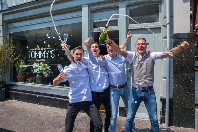 Winnaar Pollepel 2018 Tommy's v.l.n.r: Thijs, Teun, Jay en Tom zijn blij.