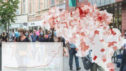 IN KAART. Nu al 232 gemeenten boven alarmdrempel, hoe staat uw regio er voor?