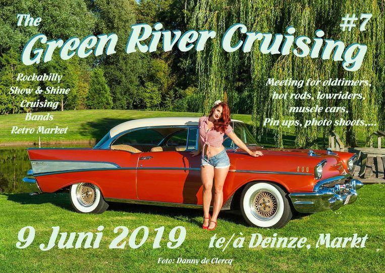 Op zondag 9 juni is er de Green River Cruising op de Markt van Deinze.