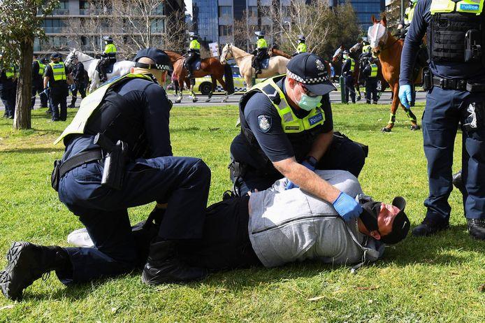 Arrestaties bij anti-lockdownprotesten in Melbourne