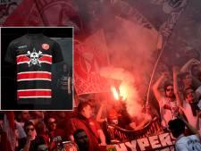 Fortuna Düsseldorf met doodshoofd-shirt tegen Bayern