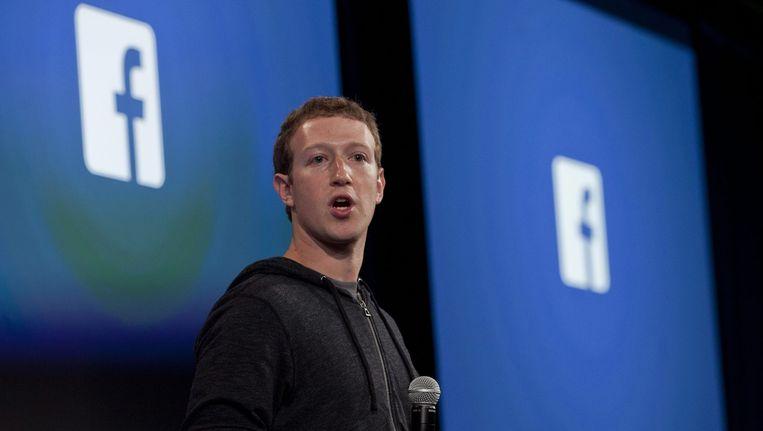 CEO van Facebook Mark Zuckerberg. Beeld epa