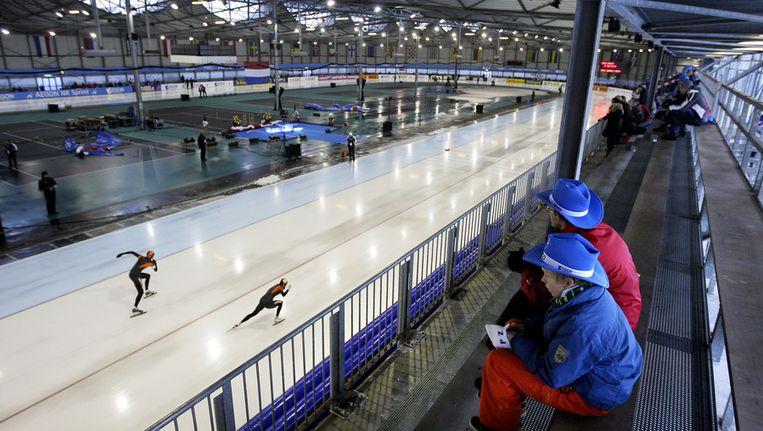 IJsbaan Kardinge in Groningen vorig jaar tijdens het NK-sprint. © ANP Beeld