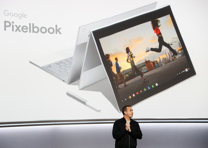 Google onthulde ook een nieuwe laptop, de Pixelbook