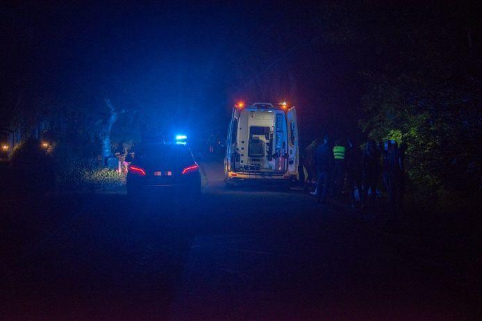 Ambulance ter plaatse bij een nachtelijk ongeval in Basse.