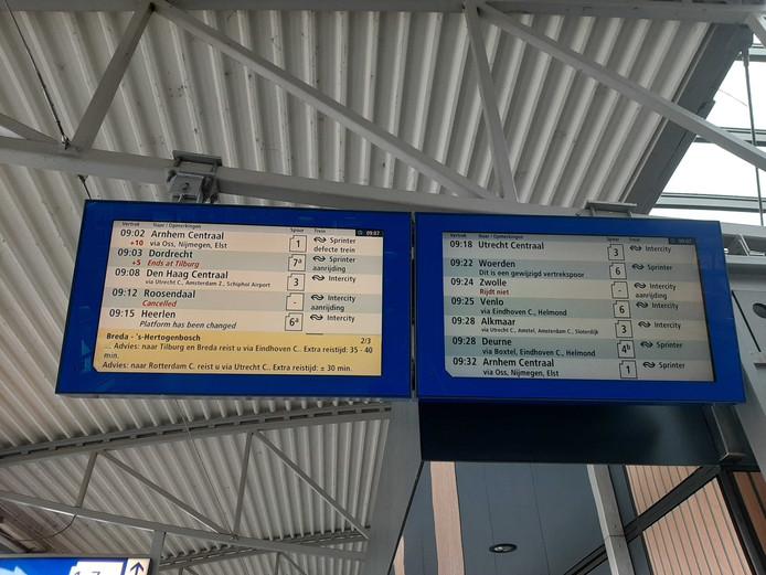 Treinverkeer tussen Den Bosch en Tilburg ontregeld