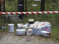 Drugsafval gedumpt bij Hattemerbroek