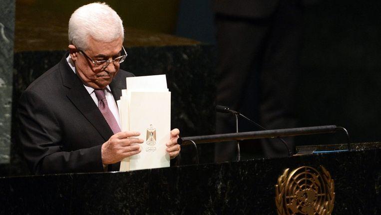 De Palestijnse president Mahmoud Abbas Beeld epa